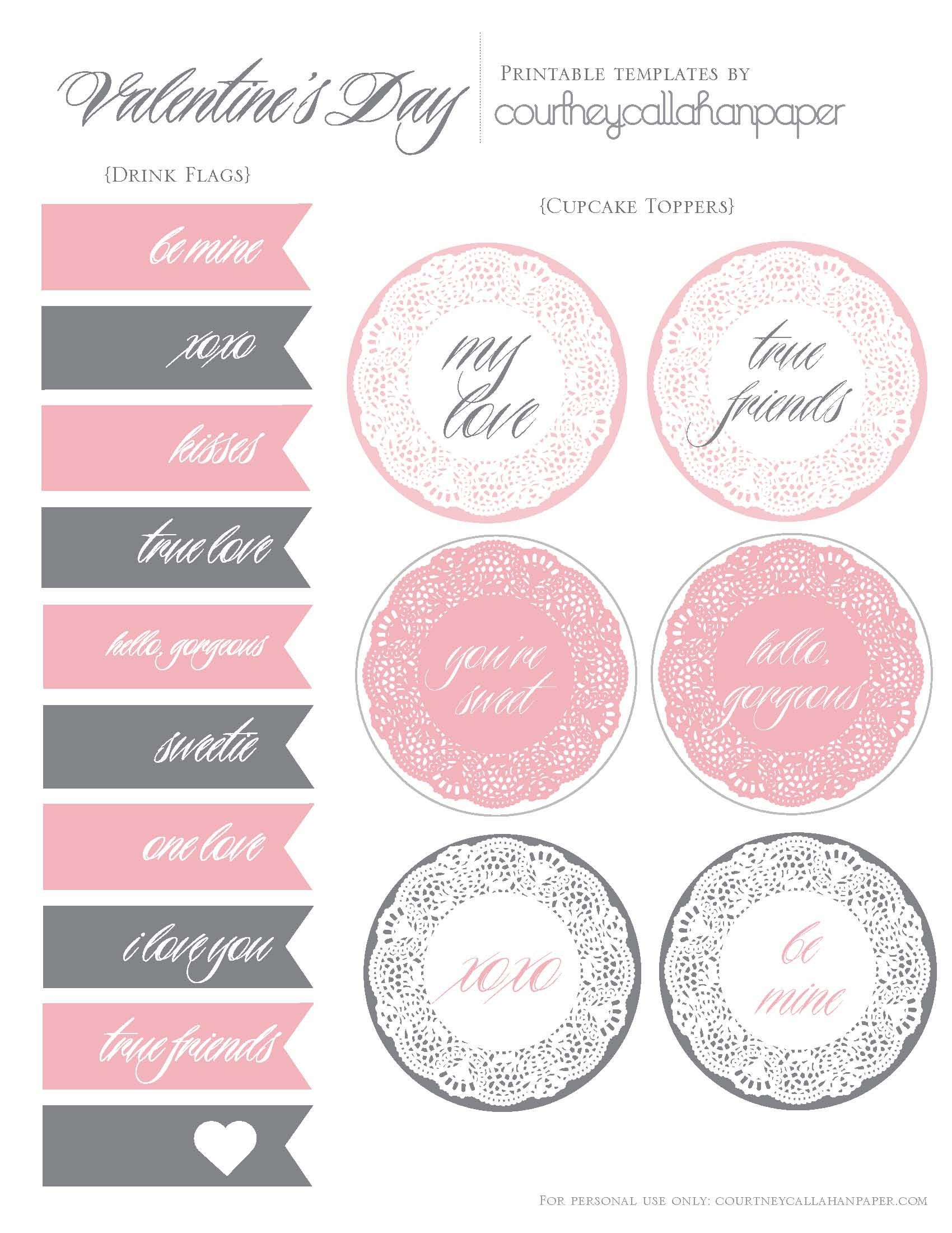 Free Printable Wedding Cupcake Toppers