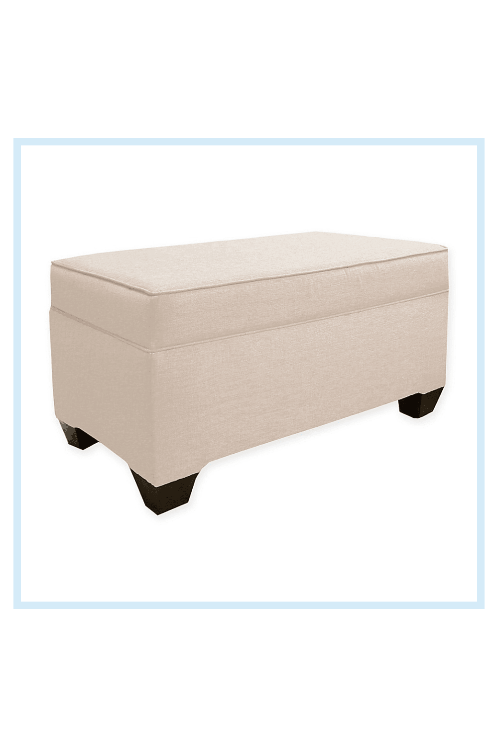 Skyline Furniture   Livonia Storage Bench In Ivory - Add innovative style to your living space with the Livonia Storage Bench. The Livonia Storage Bench is finely upholstered in sumptuous fabric and well designed with ample storage space for optimal organization.