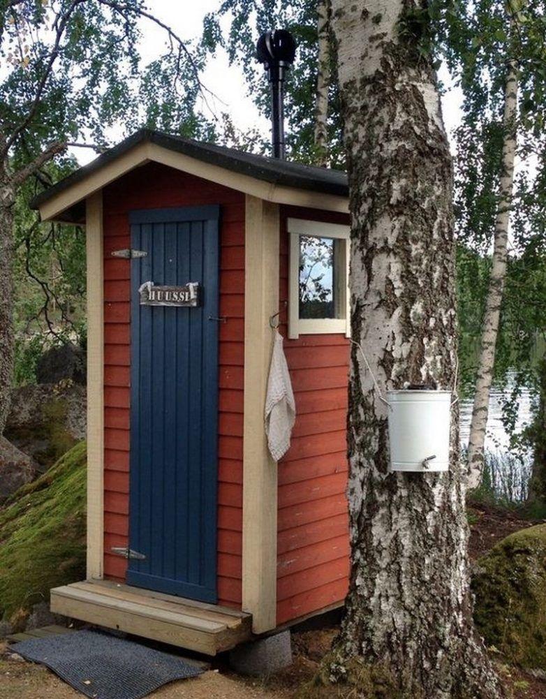 Дизайн туалета на дачном участке   Наружные ванны, Дизайн ...