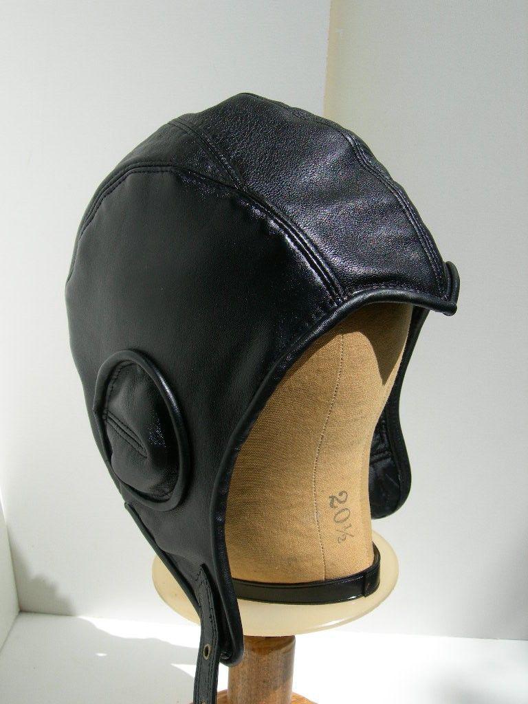 Bestseller Retro Black Leather Aviator Hat by LeatherheadOriginals ... 116a8611204