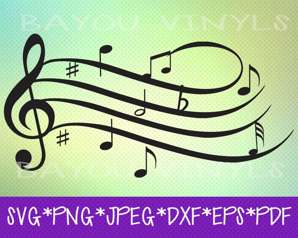 Music Clef Svg, Music Notes Svg, Music Teacher Gifts