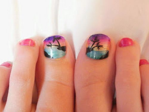 great summer design for your toe nails... These are cute but I could - Beach Toe Nail Designs Graham Reid