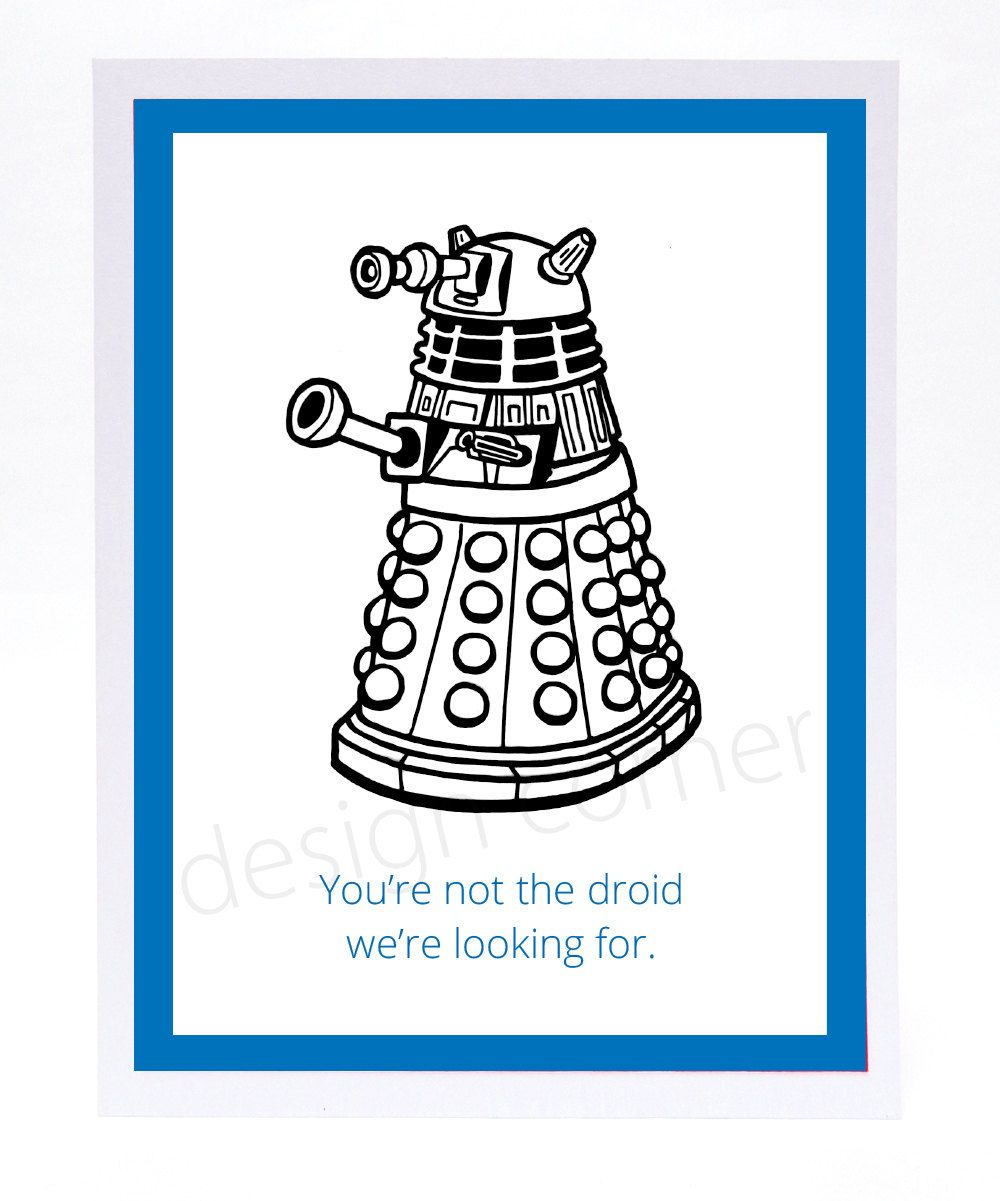 Star Wars Doctor Who crossover Dalek Droid Funny