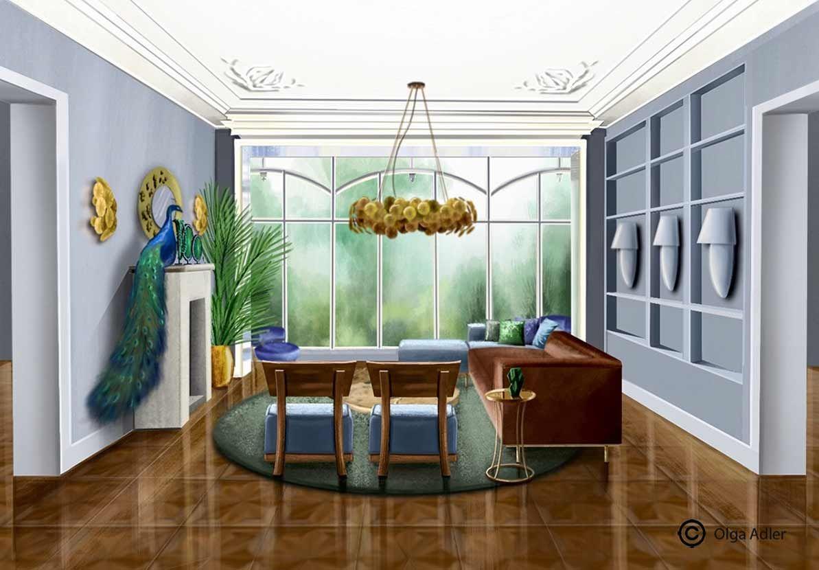 Interior Sketch | Woonkamer | Sfeerimpressie / Impression | Pinterest