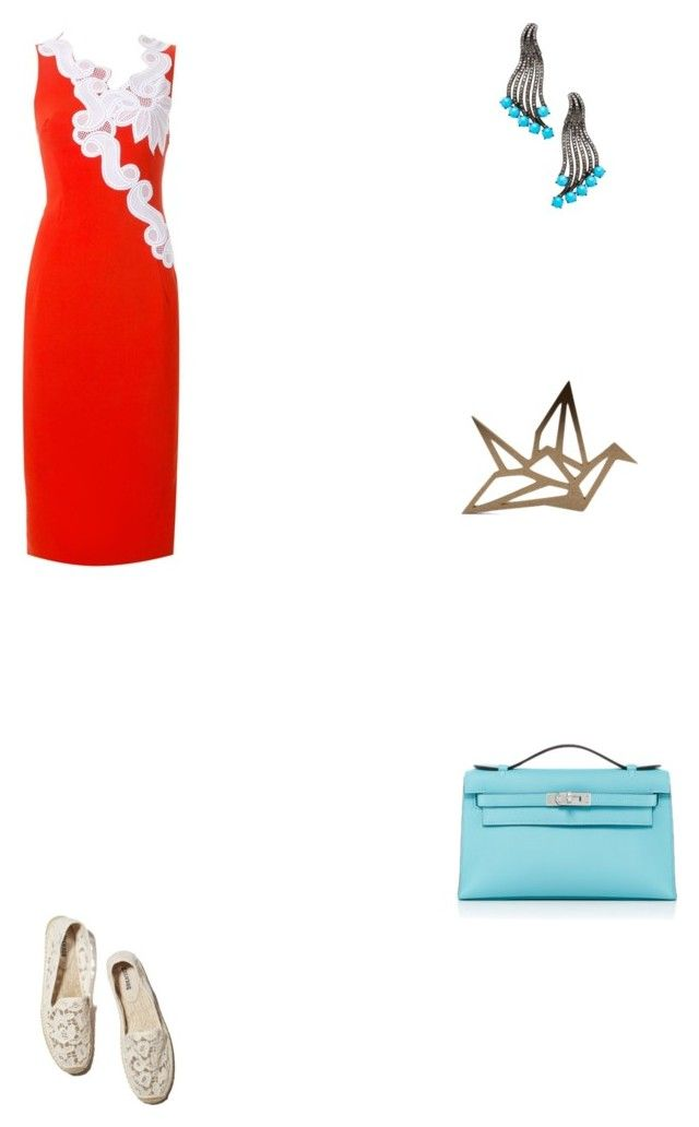 """""""Grace"""" by zoechengrace on Polyvore featuring Antonio Berardi, Paul Andrew, Karma Jewels and Hermès"""