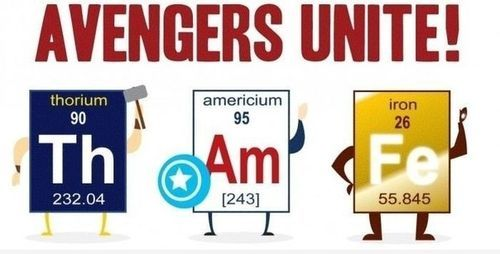 Just to add another level of nerdery iron and thorium are naturally humor urtaz Choice Image