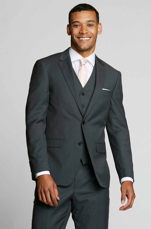 Charcoal gray suit vest grey suit men wedding suits
