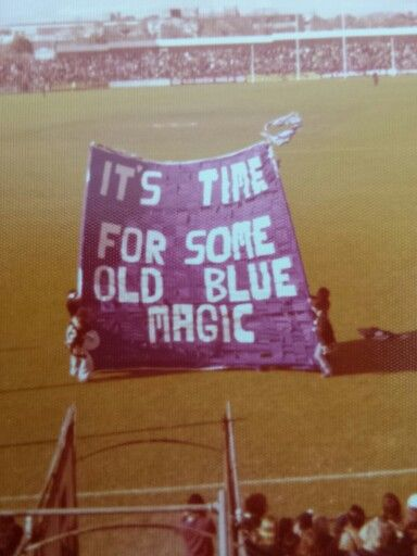 Carlton Cheer Squad Run-through (Banner) 1970's - photo credit: Shirley Hall
