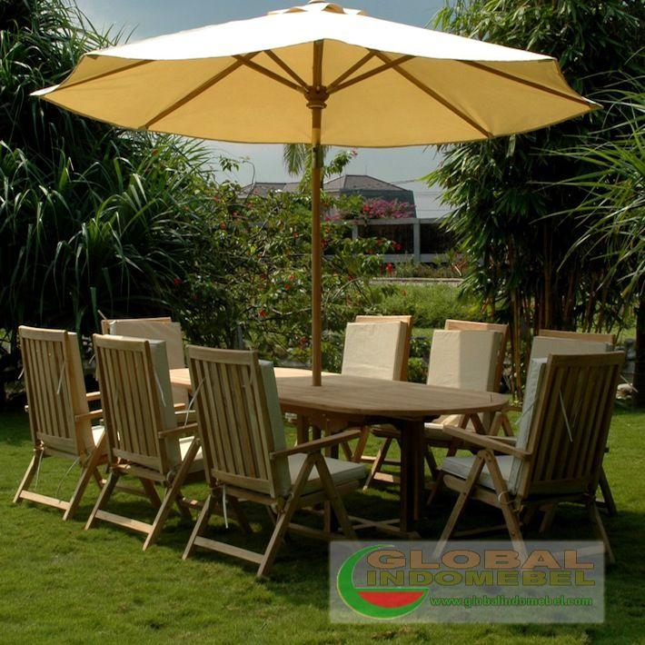 Glb 481 C Dhe Bayong Garden Set Siji Teak Garden Furniture