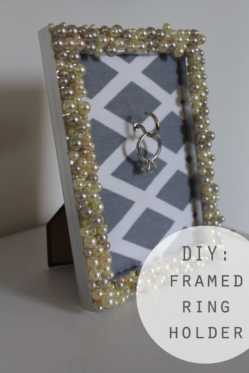 Diy Engagement Ring Frame Holder Ring Holder Frame Diy