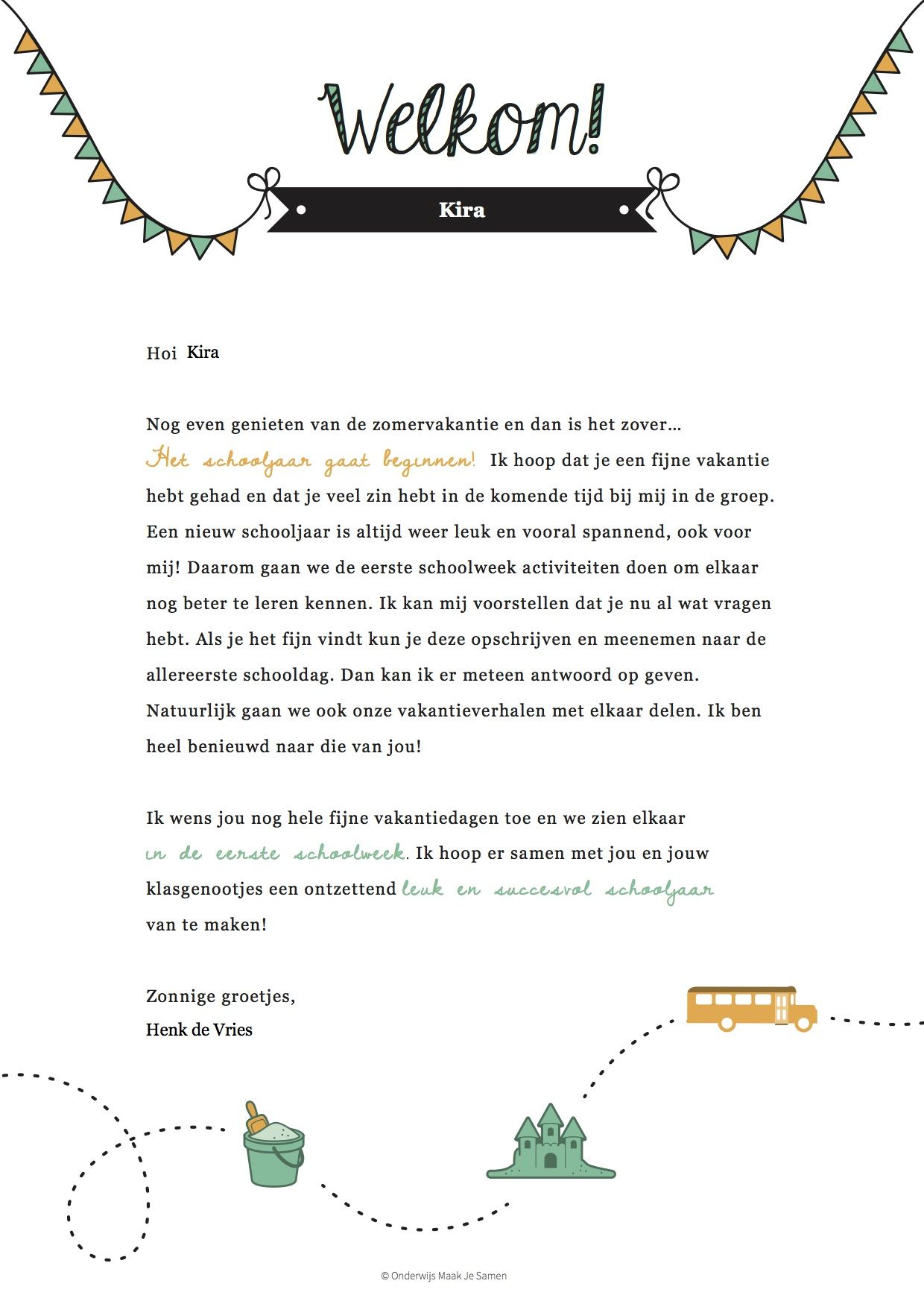 Brief beginnen