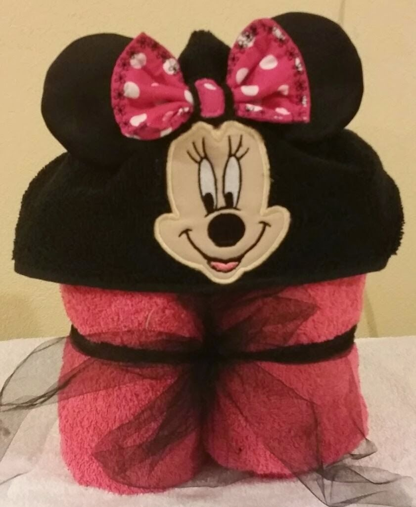Girl Mouse Girls just love this Hooded Bath towel. $25.00