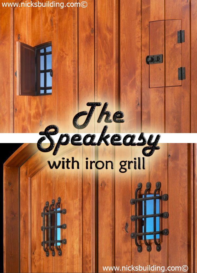 The Speakeasy With Iron Grill A Door Inside A Door Built By Www Nicksbuilding Com En Exterior Doors For Sale Solid Wood Doors Exterior Wood Doors Interior