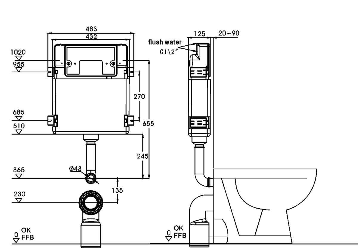 Image Result For Concealed Toilet Cistern Specifications