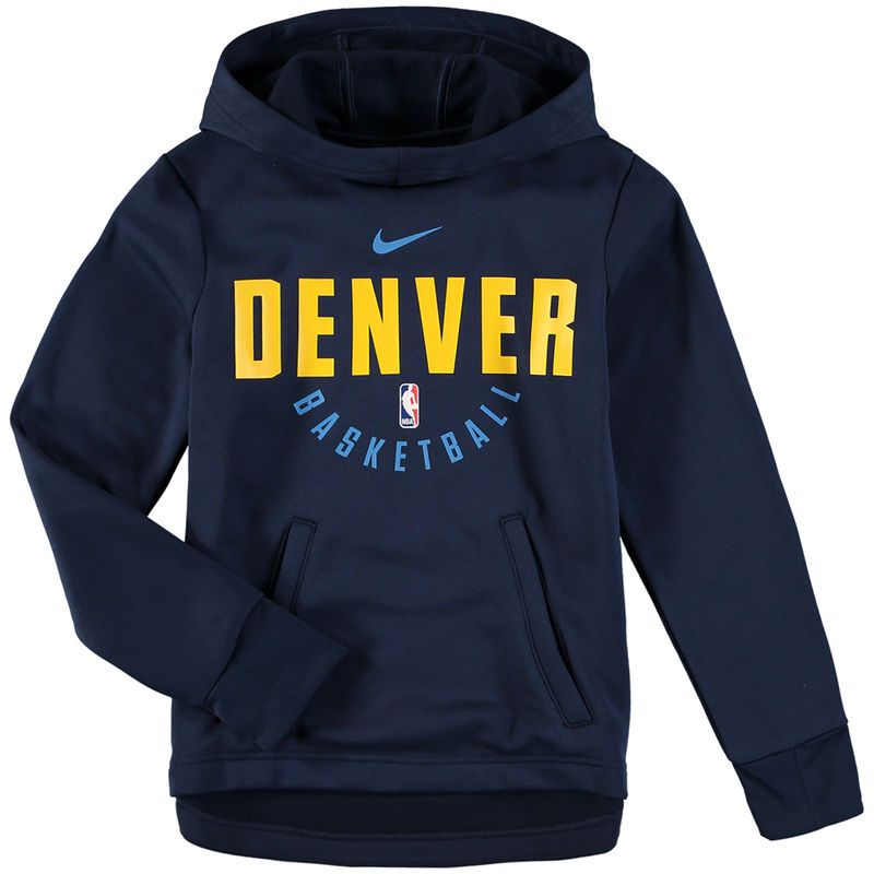 Denver Nuggets Nike Youth Elite Practice Performance Hoodie Navy Performance Hoodie Denver Nuggets Hoodies