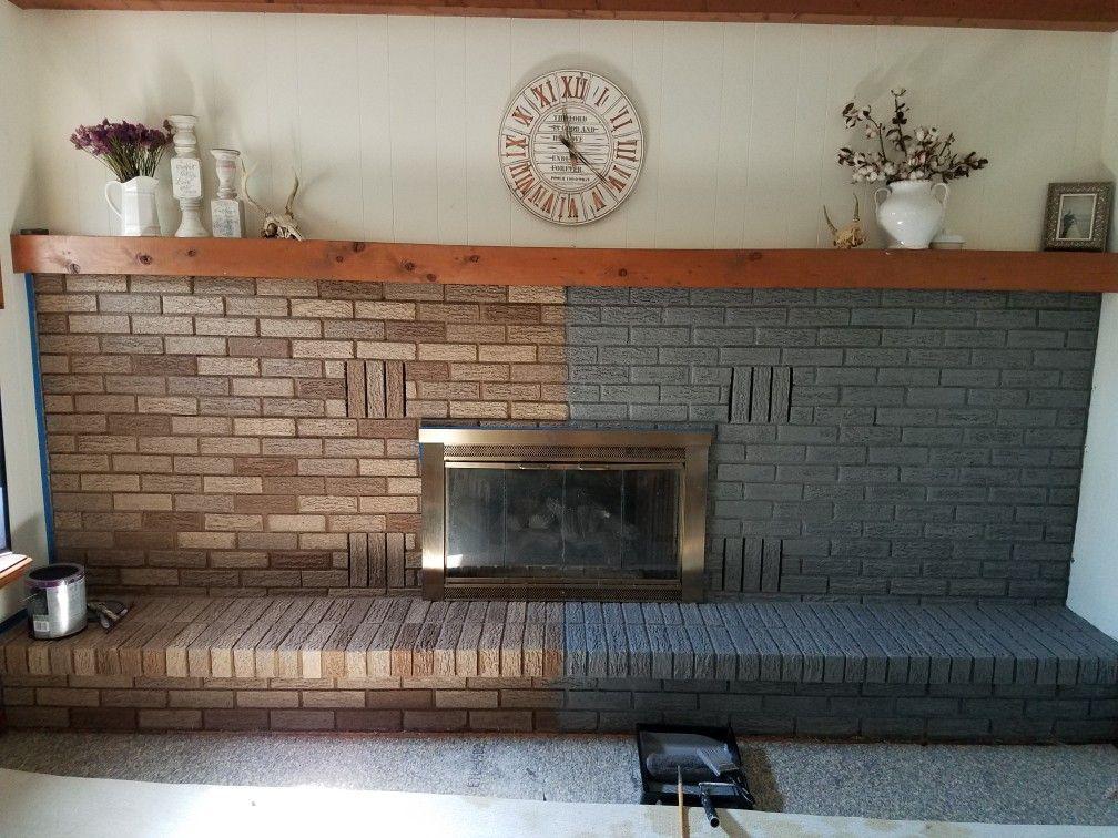 23+ Dark grey brick fireplace ideas