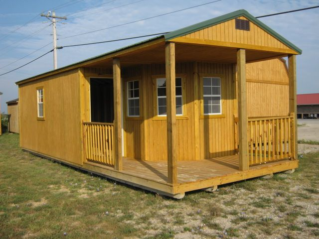 12x32 Deluxe Cabin Derksen Portable Buildings At The Interstate Plaza Shopping Center 26062 Hwy 17 S Waynesville Mo Shed Homes Portable Buildings Log Homes