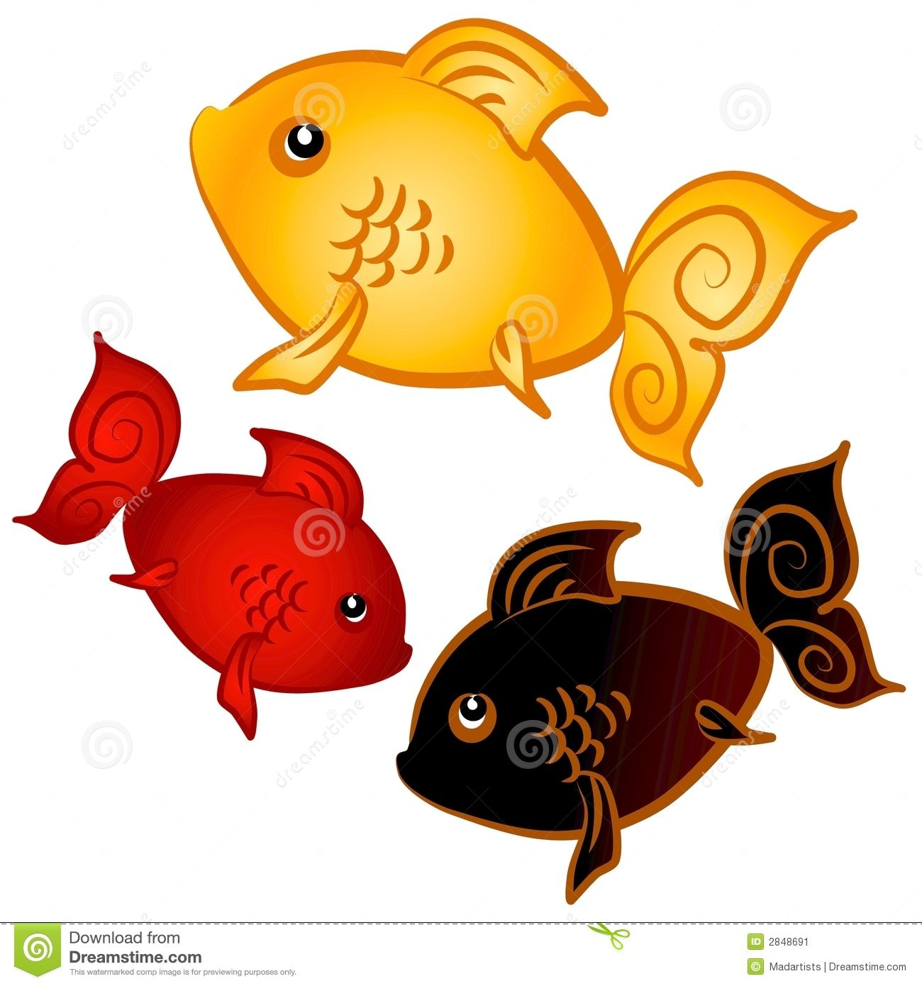 Swimming Goldfish Clip Art Stock Image Image 2848691 Art Goldfish Illustration