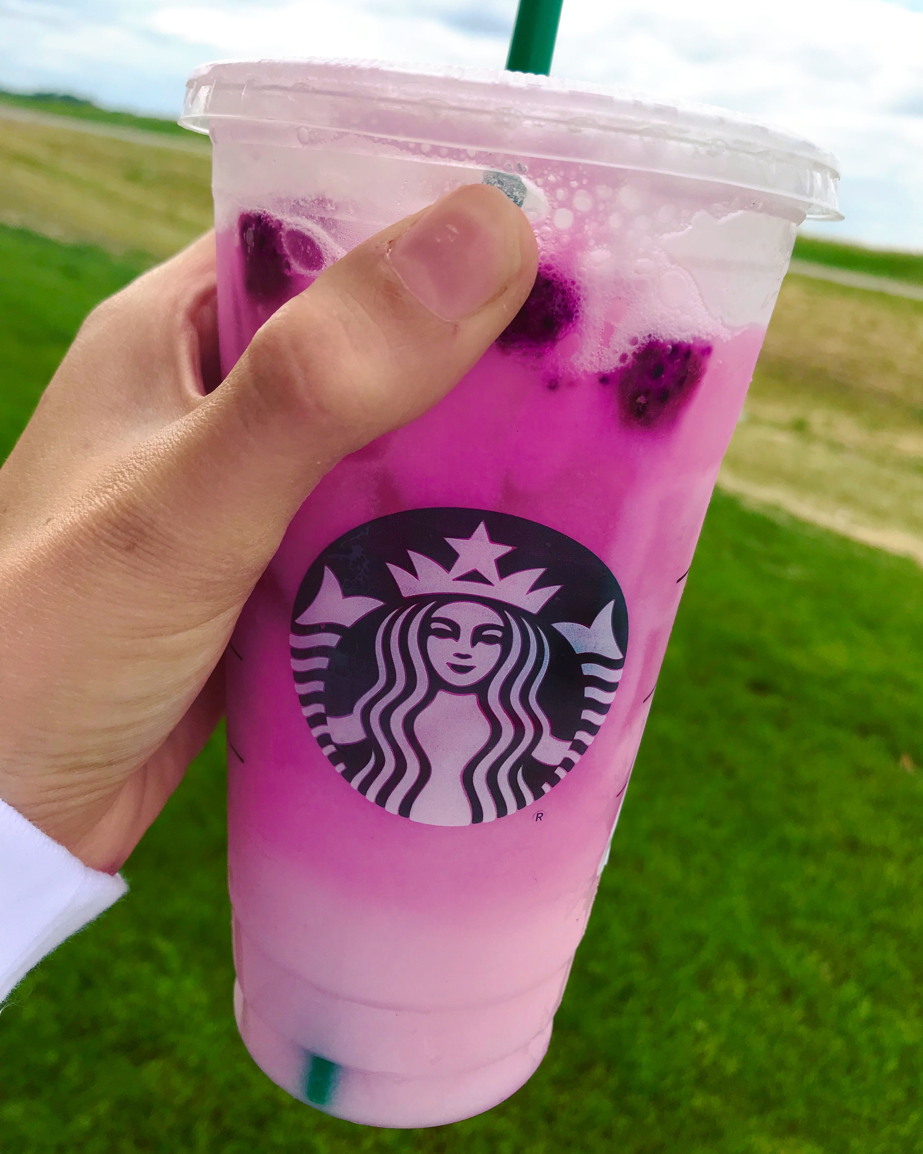Mango Dragonfruit Refresher With Coconut Milk