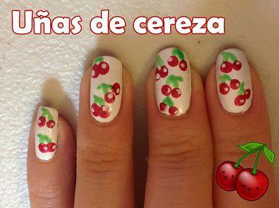 Uñas de cerezas ♥