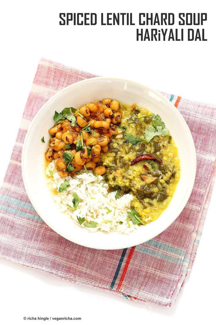 Spiced Lentil Chard Soup Hariyali Dal