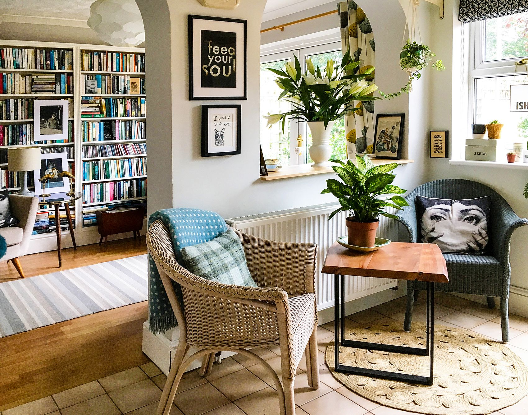 Beautiful A 1930s Bristol, England Home For A Book Lover Via Design*Sponge · Bookshelf  IdeasBook ...