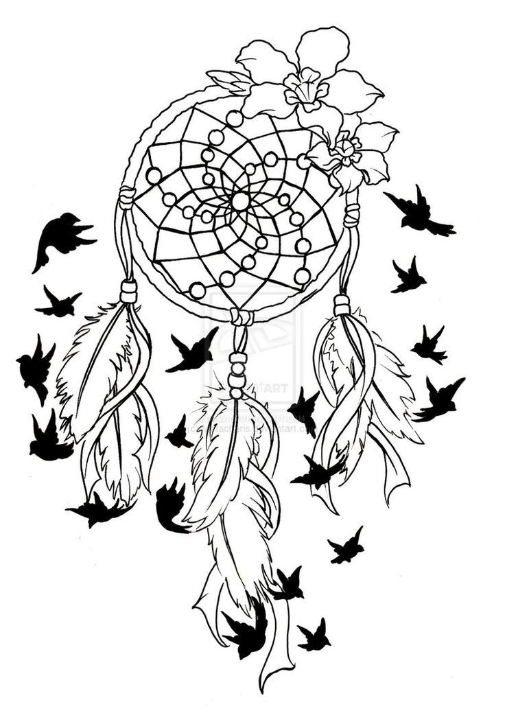 Wolf With Feather Dreamcatcher Birds Of A Feather Tattoo By