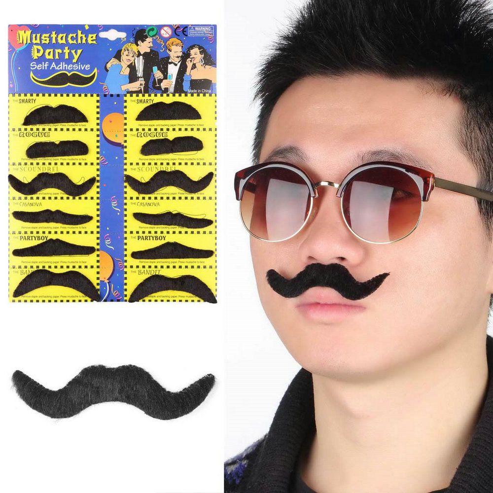 PARTY BEARD Moustache Costume Fancy Dress Halloweens Fake Mustache Fun Beards V!