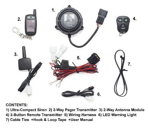 Gorilla Automotive 9000 Motorcycle Alarm with Remote Transmitter ...