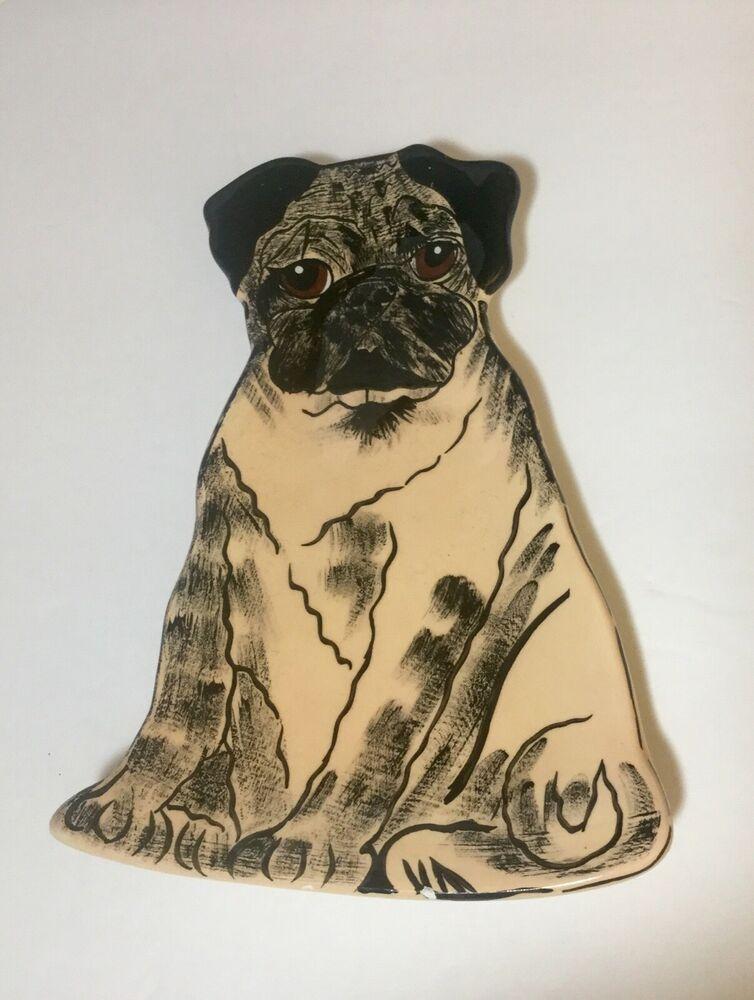 Pug Dog Ceramic Spoon Rest Dogs By Nina Lyman Pug Dog Pug Puppy