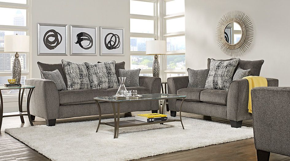 Austwell Gray 5 Pc Living Room | Around the House | Living ...