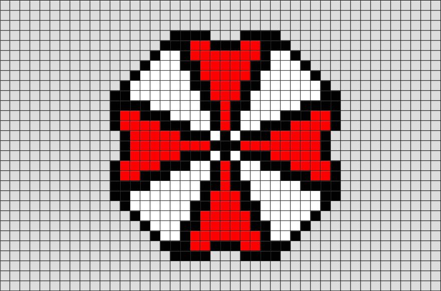Resident Evil Umbrella Corp Pixel Art Pixel Art Pearl Beads