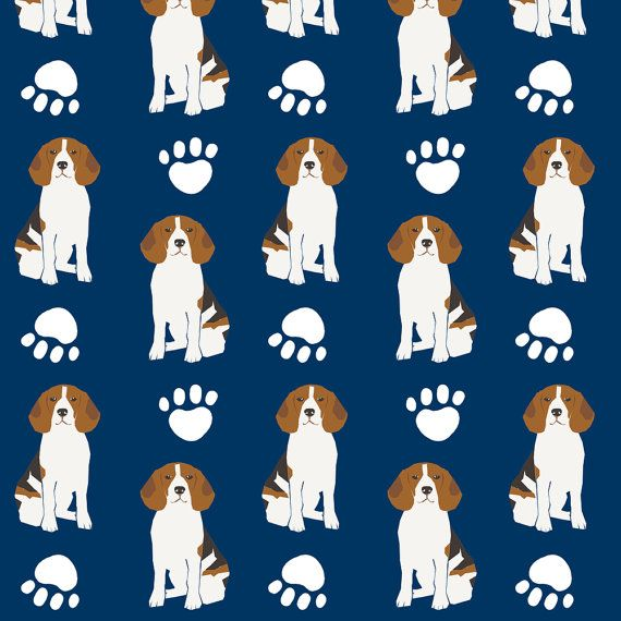 Navy Blue Beagles Fabric Beagles Dog Pet Dog Pet Owners By