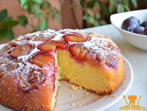 рецепт пирога со сливами с фото