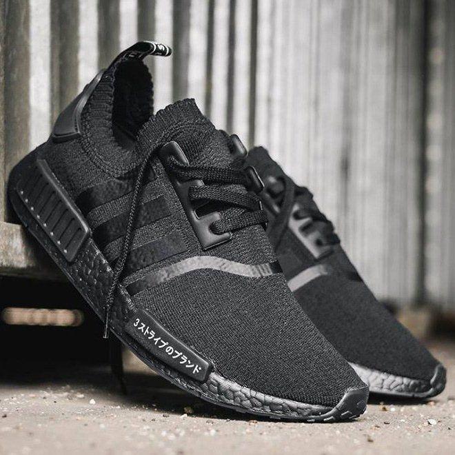 Adidas Nmd R1 Japan Triple Black Petagadget Adidas Nmd Adidas Nmd R1 Adidas Shoes Nmd