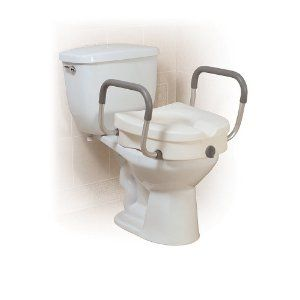 Drive Medical Raised Toilet Seat With Tool Free Removable Padded