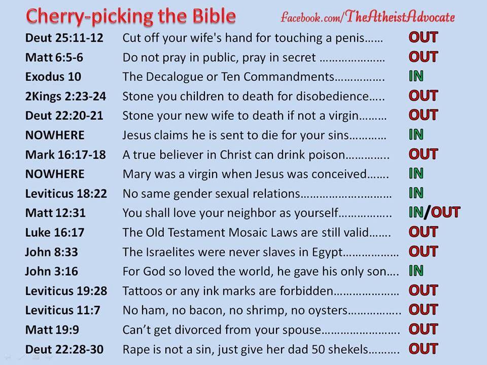 Theathiestadvocate Cherrypicking Thebible Atheism Bible
