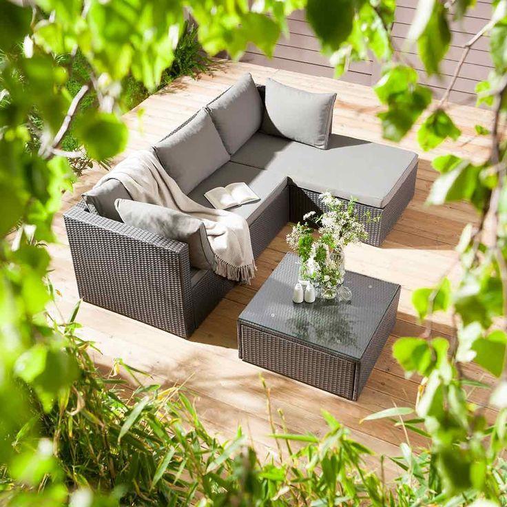 outliv basel loungeset 3 teilig geflecht loungem bel garten pinterest garten lounge und. Black Bedroom Furniture Sets. Home Design Ideas