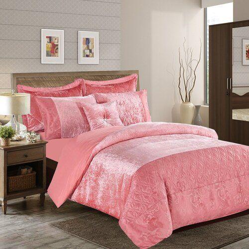 Willa Arlo Interiors Crushed Duvet Cover Set Duvet Cover Sets Pink Room Velvet Bedspread