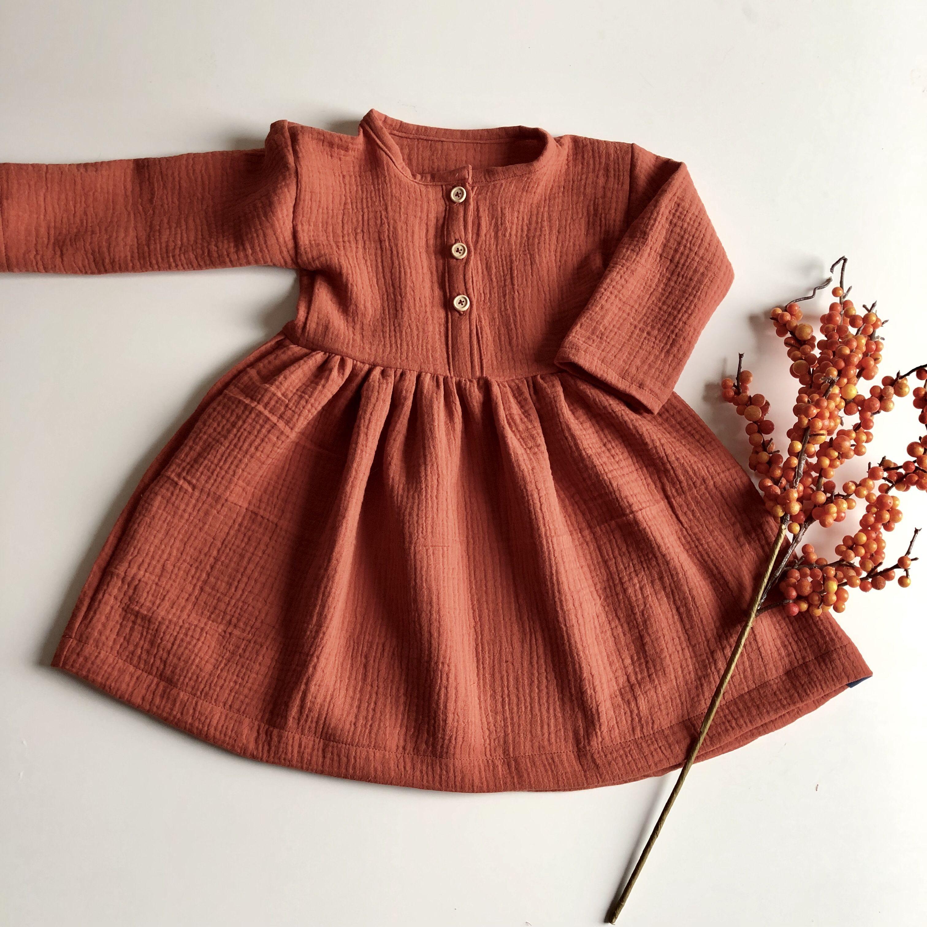 Musselinkleid Rost Musselin Kleid Kleidchen Kleidung