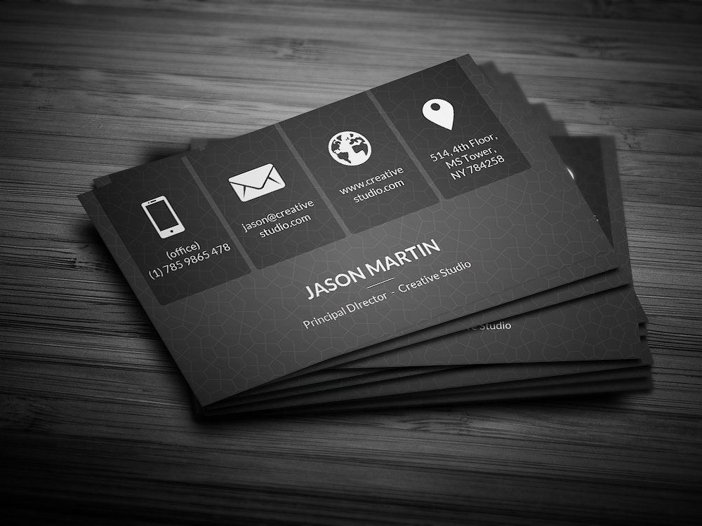 metro dark corporate business card by bouncy on