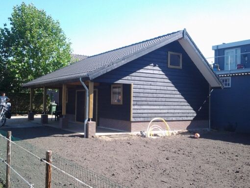 Huisje met veranda potdeksel
