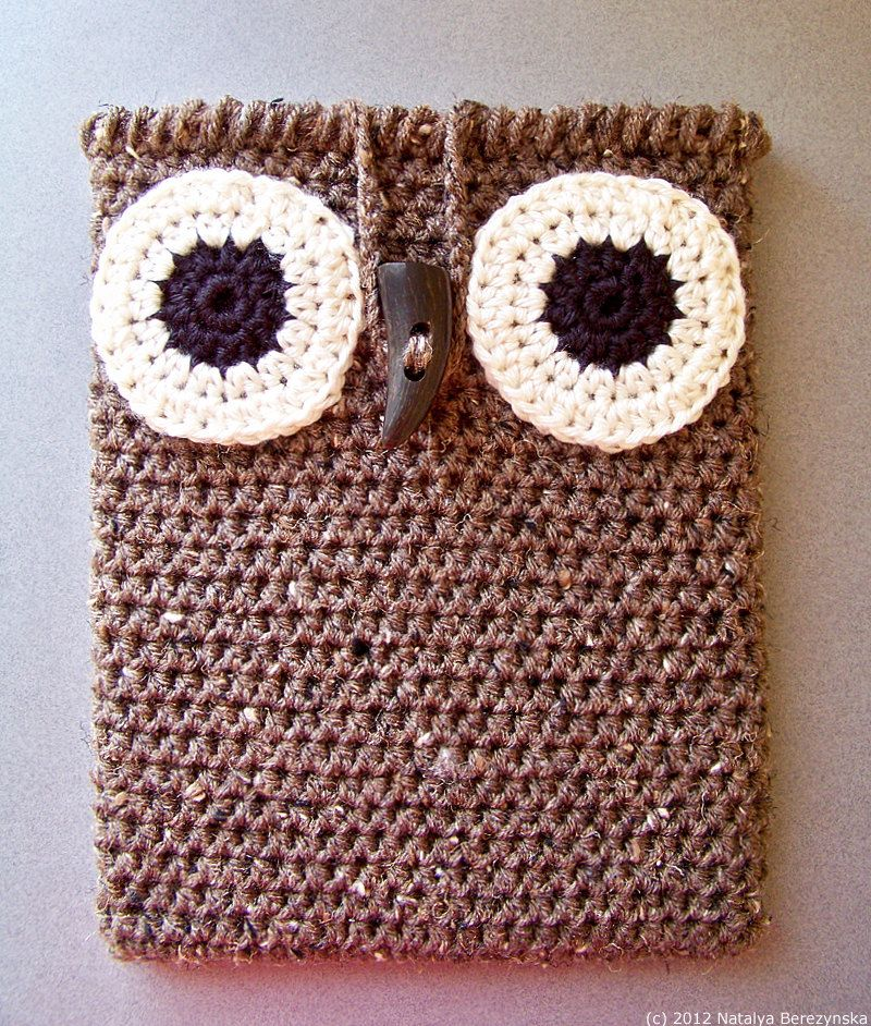 Crochet PATTERN, Crochet Owl iPad Case Pattern, Owl Tablet Case ...