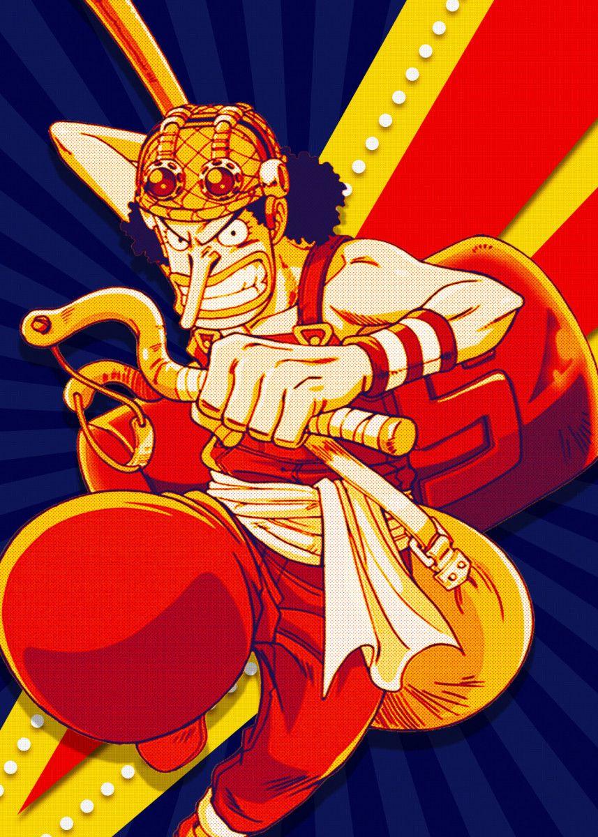 Usopp One Piece Anime & Manga Poster Print metal posters