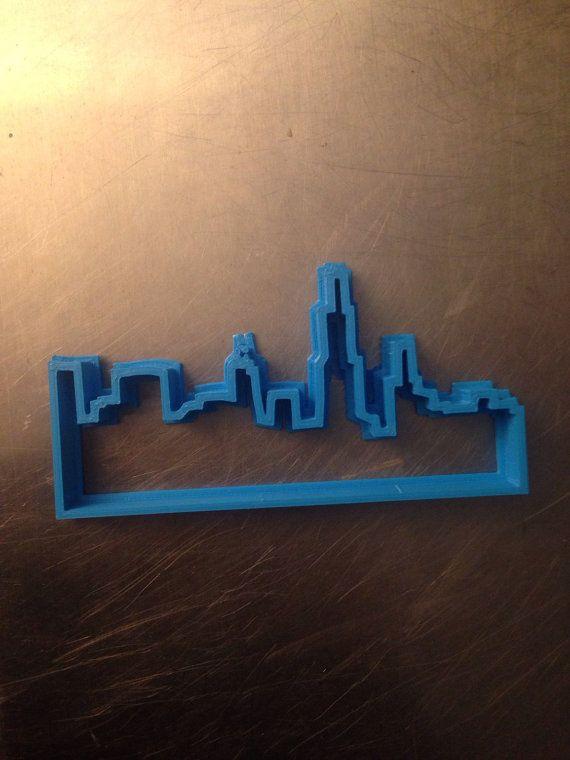 Chicago City Building Skyline Cookie Fondant Cake Cutter Birthday