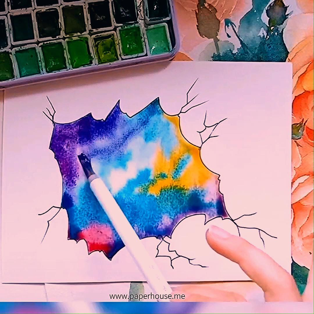 """Photo of Watercolor Star Paintings👉www.paperhouse.me💝Get $3 with code """"PIN3""""💝worldwide Tracked Shipping"""