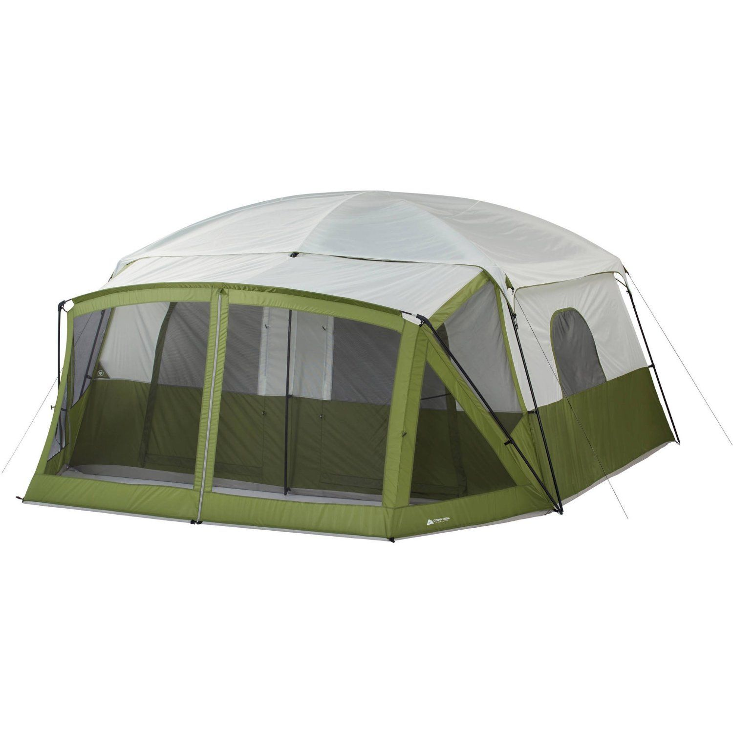 Amazon Com Ozark Trail 12 Person Cabin Tent With Screen Porch Sports With Images Cabin Tent Tent 12 Person Tent