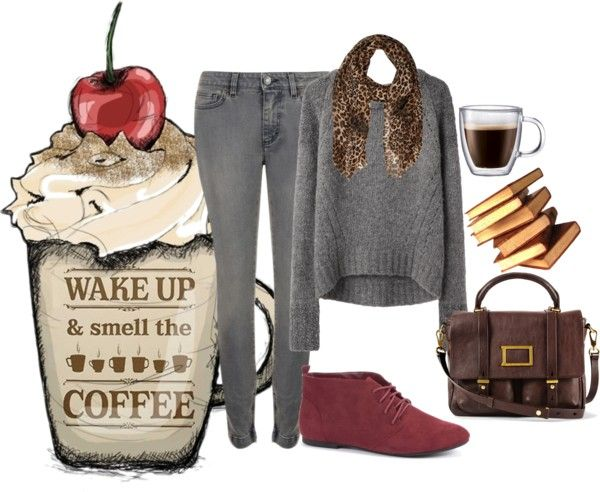 """""""Study Time at the coffee shop"""" by b-corinne-jackson on Polyvore"""