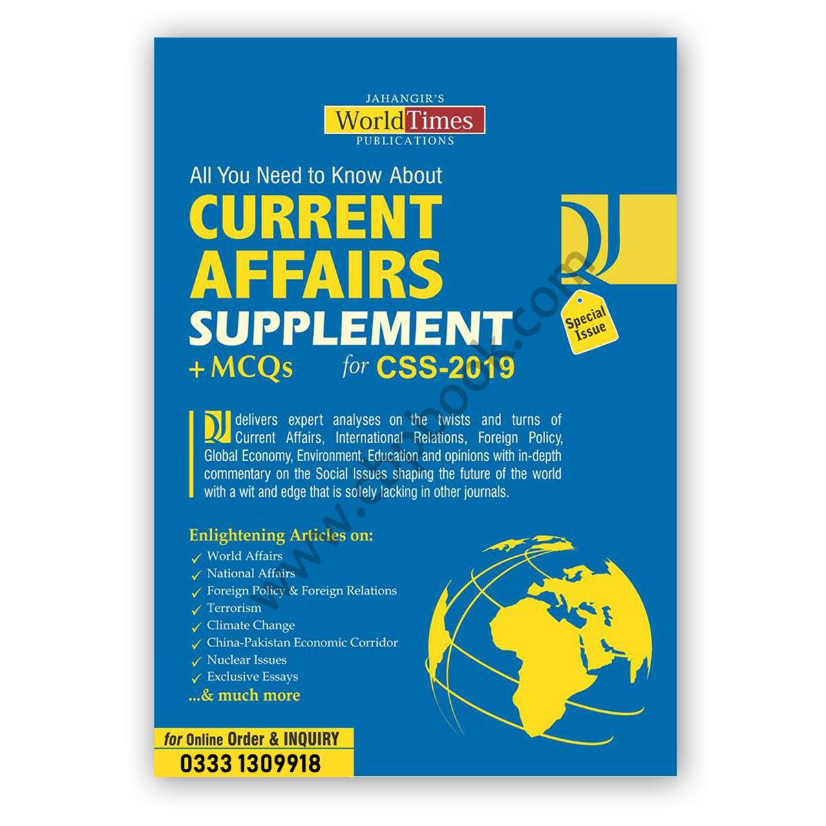 Current Affairs Supplements + MCQs for CSS 2019 - Jahangir World