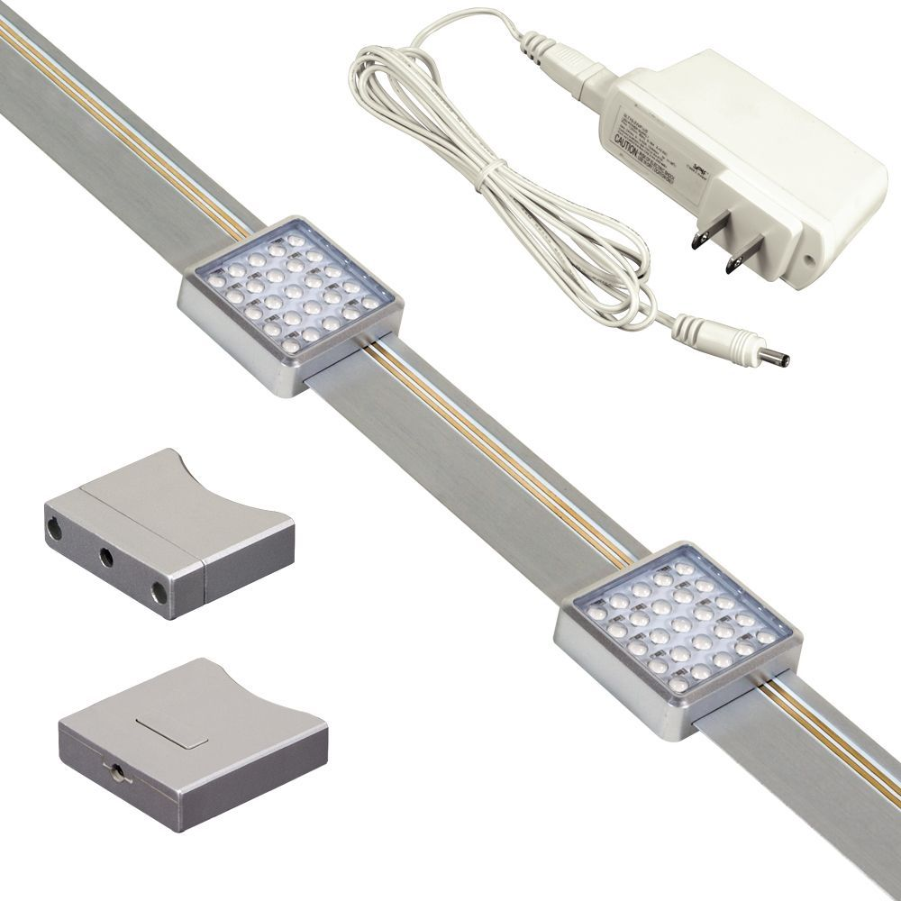 JESCO Orionis Dimmable Slidable LED Undercabinet Track Kit | Home ...